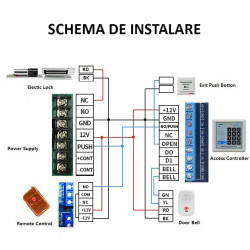 Door Access Control System Switch Power Supply for Fingerprint Access Control MachineDC 12V 5A