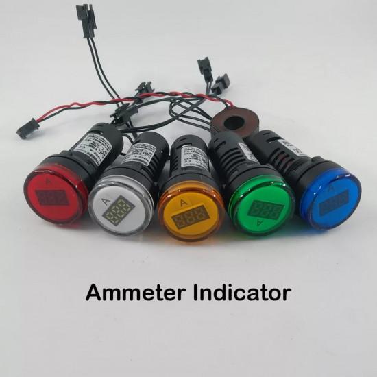 22MM TOMZN AC 0-100A 0-50A LED Ammeter current meter indicator pilot light 5 Colors