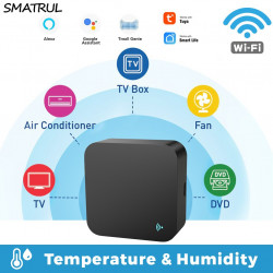 Tuya Smart Wifi IR Remote Control Universal Temperature Humidity Sensor For Air Conditioner Fan TV DVD Alexa Google Home
