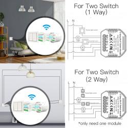 Wifi Smart Light Switch Diy Breaker Module Smart Life/Tuya APP Remote Control,Working with Alexa Echo Google Home 2 Gang 2 Way.