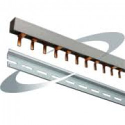 DIN rail & three-phase comb