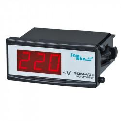 Samwha-Dsp SDM-V Digital Voltmeter, Slim Compact, LED Panel Meter
