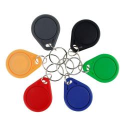 TAG RFID keyfobs 13.56 MHz keychains NFC tags ISO14443A MF Classic&reg 1k nfc access control token smart keycard six colors