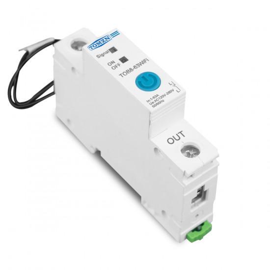 63A Ewelink Single Phase WIFI Smart Energy Meter Kwh Metering Monitoring Circuit Breaker Timer Relay for Smart Home TOMZN