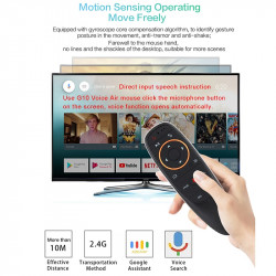 Air Mouse Voice Control with Gyro Sensing Game 2.4GHz Wireless Smart Remote G10S  F3 Android TV Box