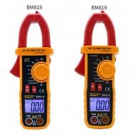 Ammeter ACV/DCV ACA Auto Range Measurement of large capacitance NCV Digital clamp meter BM819
