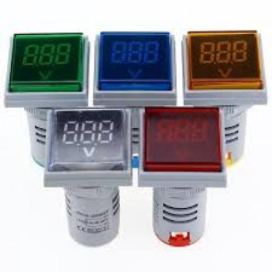 Square LED Digital Dual Display Voltmeter & Ammeter Voltage Gauge Current Meter AC 60-500V 0-100A D18