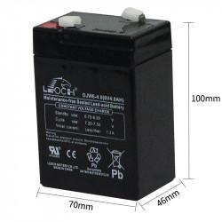 lead acid batterie 20hr 6v 4ah battery long