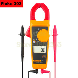 FLUKE 303 Digital Clamp Meter with AC/DC Voltage Test and Ohm Measurement