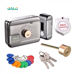 wifi control Electric lock & gate lock Access Control system Electronic integrated RFID Door Rim lock with ID reader 125khz