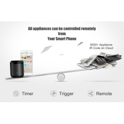 Universal Remote Control Smart Home Control works with Google Assistant and Alexa Broadlink RM mini 3 WiFi IR