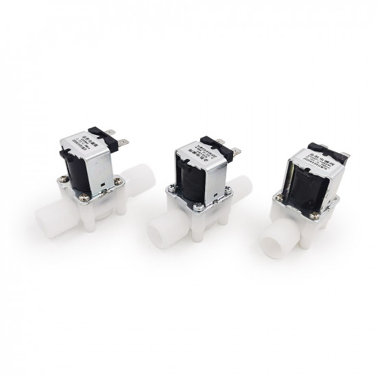 """1/2"""" Male Thread Water Solenoid Valve 12V Normal Closed Plastic Valve Drinking Water Controller Switch"""