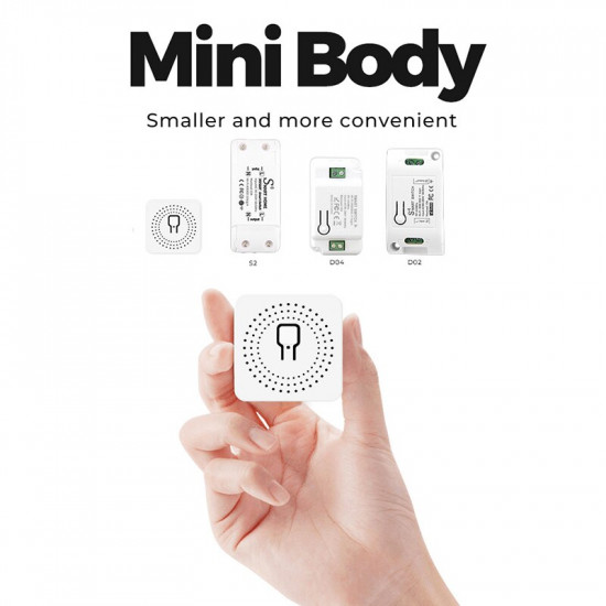 16A Mini Wifi Intelligent Commutateur Prend En Charge la Commande à 2 Voies, Maison Intelligente Module Universel Fonctionne Avec Alexa Google Home Smart Life Application