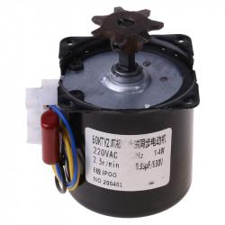 Eggs Turner Motor Incubator Engine Reversible Geared Components 2.5r/min D0AC 220V AC