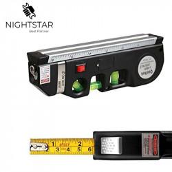 Laser Level Horizon Vertical Measure 8FT Aligner Standard and Metric Rulers Multipurpose Measure