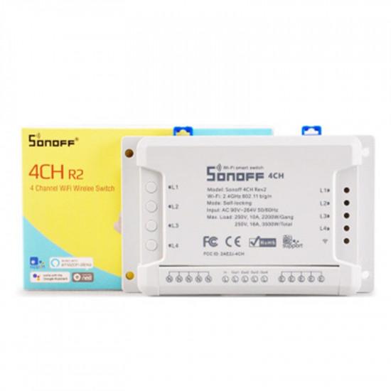 SONOFF 4CH R2 SMART SWITCH 4 CHANNELS 433MHz 2.4G WIFI