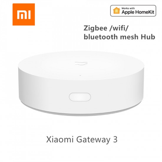 Xiaomi Mijia Smart Multi-Mode Gateway Controlled By Voice Remote Control And Automation Smart Linkage Devices As Ble Mesh Hub